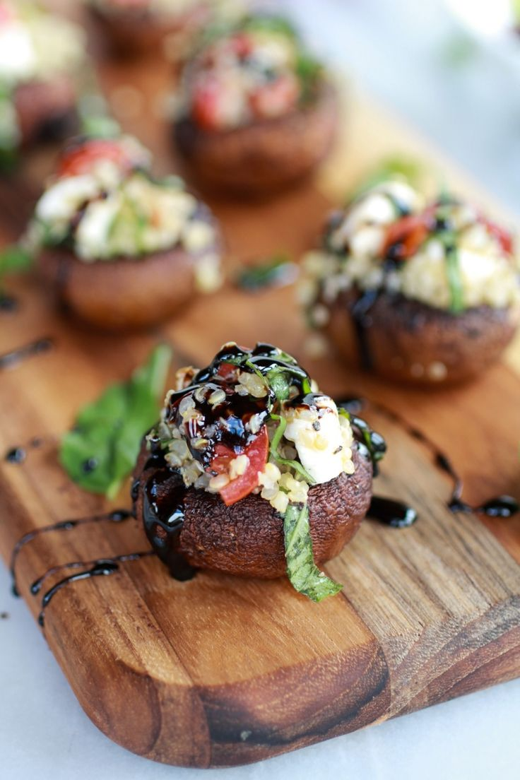 Socal event food in Spokane, WA | Stuffed mushrooms social catering spokane charley's catering